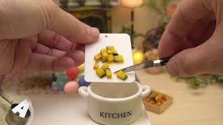 MiniFood 食べれるミニチュア かぼちゃの煮つけ miniature boiled pumpkin