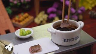 MiniFood 食べれるミニチュア カレイの煮付け miniature Boiled flounder