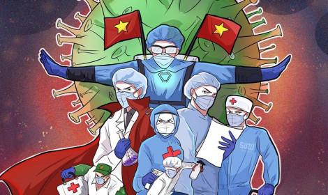 """Bộ ảnh cổ động chống dịch Covid-19! - Bác sĩ Việt Nam tựa như """"Siêu anh hùng trong Marvel""""!"""
