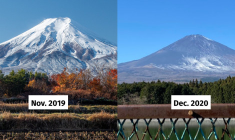 Núi Phú Sĩ - Biểu tượng Nhật Bản đang vơi dần tuyết