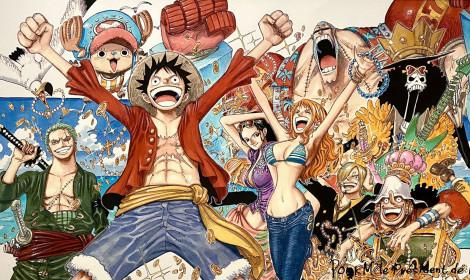 Tác giả Eiichiro Oda tặng tranh One Piece tự vẽ cho tổng thống Pháp!